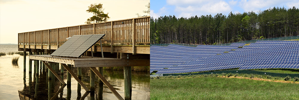 North Carolina solar. iStock Photos by Greg Bethmann and Kris Williams